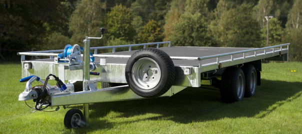 Vlemmix biltrailer med plan lastyta